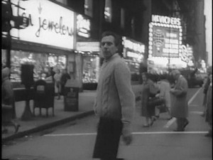 There are many shots of this man wandering through mid-1960's Chicago.