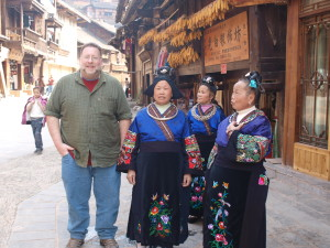 Michael Chills With Some Miao Honeys