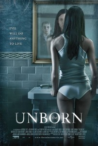 This poster used for the international theatrical release of The Unborn demonstrates how integral to the plot it was to have Odette Yustman be in her underwear.